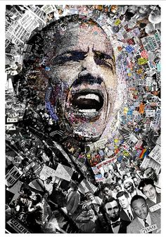 """""""I Am Not A Perfect Man"""", Obama Civil Rights and Protest Collage"""