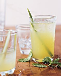 Happy hour: Mint, Cucumber, and Vodka Cocktails by Martha Stewart #drinks #cocktail #refreshing