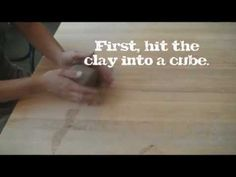 Wedging Clay: How and Why elementary art education youtube video how to wedge clay for kids ceramics lessons
