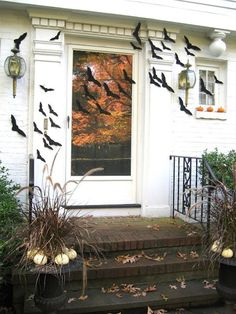 Get spooky for Halloween by decorating your front porch!