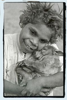 Wonderful, wonderful blog! ABORIGINIE BOY WITH PET KANGAROO