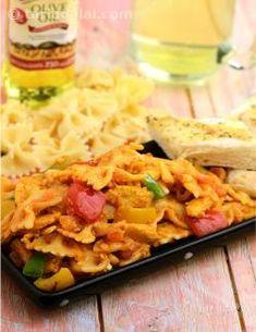 Bow Pasta with Curried Vegetables recipe | Pizzas & Pasta Recipes | by Tarla Dalal | Tarladalal.com | #1840