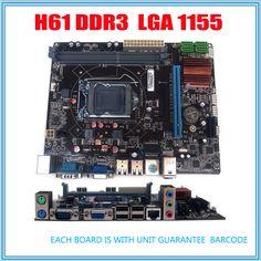 새로운 마이크로 ATX DDR3 LGA1155 H61 마더 보드