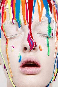 dripping paint fashion photography - Google Search