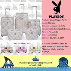 Lindo jogo de mala, estampa e modelagem criada para a licença Playboy.    #pläyboy #playboy #pattern #lugaggebag #lugagge #malas #design #graphicdesign #productdesign #designproduct #project #webdesign #web #graphicdesign #logotipo #logo  #leonidasdesigner #leonidas #tubaroes #tubarao #sharks #sparta