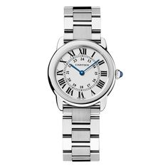 Cartier Stainless Steel Ronde Solo De Watch In Gold Cartier Santos, Fine Watches, Watches For Men, Stainless Steel Bracelet, Stainless Steel Case, Smartwatch, Cartier Panthere, Ladies Bracelet Watch, Omega