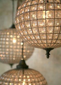 Crystal Globe Chandeliers