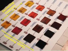 Researchers have come up with a new way to make perovskite films for solar cells. The technique is especially well suited to making ultra-thin films that are semi-transparent, which could be useful for window photovoltaics. The cells can also be made in different colors. CREDIT: Padture lab/Brown University