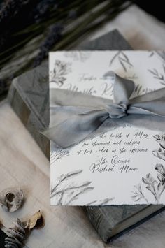 vintage botanical illustrations, deckled edge paper, and hand dyed silk ribbons - a new wedding invitation from hello tenfold!