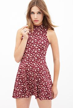 Mock Neck Floral Dress | Forever 21 - 2000123025