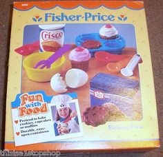 fisher price fun with food baking fun set in box--- this is where my cupcake obsession began.