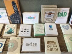 Handmade Father's Day cards from Two Hands Paperie