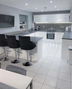 Luxury Kitchen Design, Kitchen Room Design, Home Room Design, Dream Home Design, Modern House Design, Kitchen Ideas New House, Home Decor Kitchen, Kitchen Interior, House Ideas