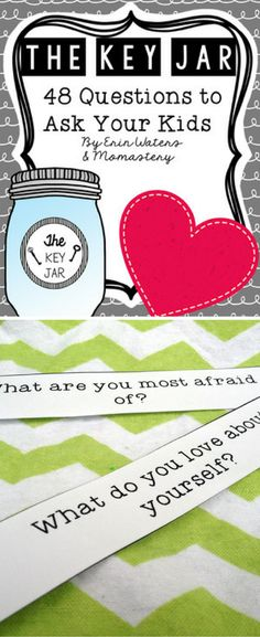 Love these conversation starters for kids! Free printable list of 48 questions to unlock what's in your child's heart.