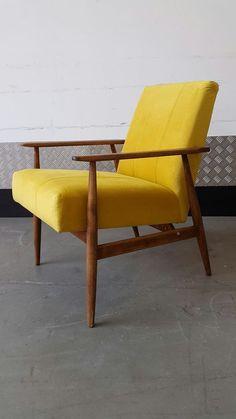 Vintage DANISH Armchair Design Loft Modern New Upholstery Mid Century Antique Chairs, Vintage Chairs, Yellow Armchair, Yellow Chairs, Danish Armchair, Mid Century Armchair, Hygge Home, Upholstered Chairs, Interior Design Inspiration