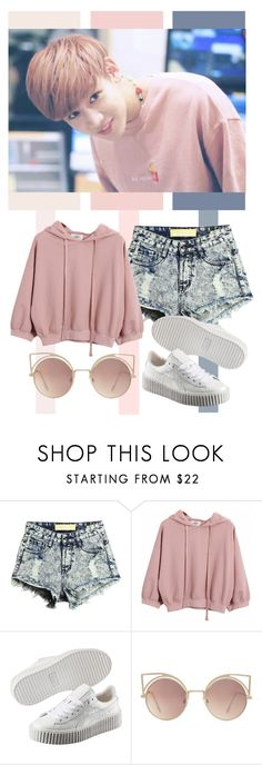"""Kunpimook Bhuwakul / Tag"" by tanbo ❤ liked on Polyvore featuring Chicnova Fashion, Puma, MANGO, kpop, bambam, GOT7 and kunpimookbhuwakul"