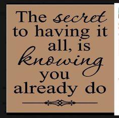 I already have it ALL!. #meditation