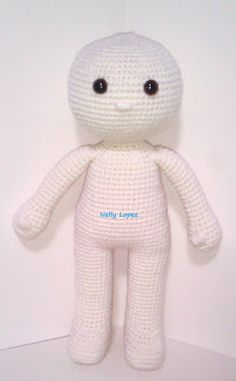 Maya basic doll pattern by Nelly M Lopez Crochet Baby Toys, Crochet Doll Clothes, Knitted Dolls, Cute Crochet, Doll Patterns Free, Crochet Dolls Free Patterns, Crochet Doll Pattern, Doll Amigurumi Free Pattern, Amigurumi Doll