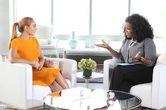 Lindsay Lohan &  Oprah Winfrey Interview 2013.... No doubt this is a SIGN.  Oh, the colors...