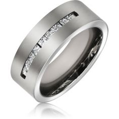 titanium-wedding-ring-mens-channel-cz_sdp-4328 Best Deal Bling Jewelry Mens Say Yes Ring