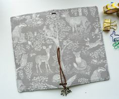 In Stock- Fabric Cover Fauxdori - Forest dwellers, Travelers Notebook, Midori…