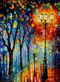 Avert, Manage, And Eliminate Black Mildew The Fog Of Dreams Palette Knife Oil Painting On Canvas By Leonid Afremov - Size Offer Palette Knife Oil Painting On Canvas By Leonid Afremov Oil Painting Texture, Autumn Painting, Oil Painting Abstract, Abstract Canvas, Abstract Portrait, Rain Painting, Portrait Paintings, Acrylic Paintings, Art Paintings