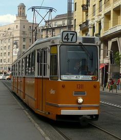 English: Tram 47 in Budapest. Places Ive Been, Places To Go, Light Rail, Central Europe, Budapest Hungary, Dream Vacations, Urban, Country, City