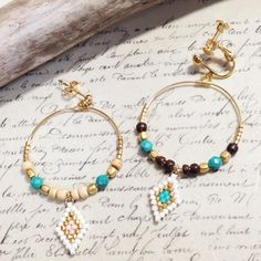 いいね!28件、コメント1件 ― chihoさん(@banacafe_chiho)のInstagramアカウント: 「フープピアス&イヤリング♪ まるいフープをキレイに見せたいからゴテゴテつけずにシンプルに☆ウッドビーズも取り入れてみましたよ^ ^ #banacafe #accessories #beads…」
