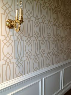 Things I'm all about this week -- modern wallpaper and traditional furniture. great combo