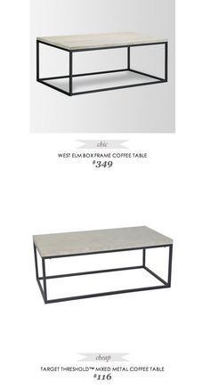 box frame coffee table - whitewashed mango | west elm | buy for