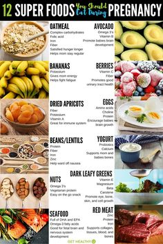 Try these 12 prenatal super foods packed with vitamins and nutrition for you and your baby during pregnancy! Try these 12 prenatal super foods packed with vitamins and nutrition for you and your baby during pregnancy! Healthy Pregnancy Food, Pregnancy Eating, Pregnancy Nutrition, Pregnancy Health, Pregnancy Tips, Healthy Snacks, Best Pregnancy Foods, Vegetarian Pregnancy, Pregnancy Cravings