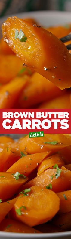 These Brown Butter Carrots are the holiday side that won't take up valuable oven space. Get the recipe from Delish.com.