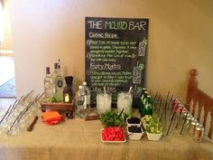Mojito Bar for Havana Nights Party. What a great idea!