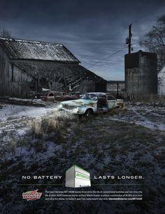 INTERSTATE BATTERIES: LASTS LONGER by Mike Campau, via Behance