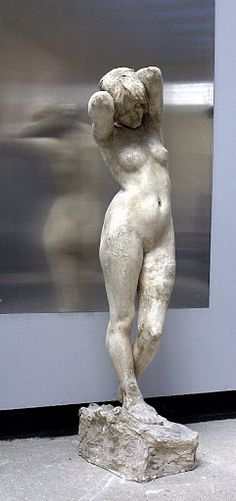 Tones by Rudolph Tegner. 1897. Plaster. According to the artist's inventory, the sculpture was created for a competition, and cast three times in bronze.