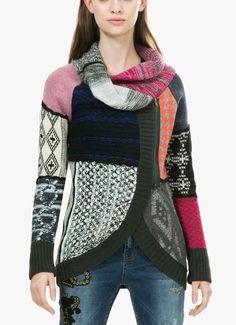 Desigual Patchwork Sweater Venecia, Buy Online