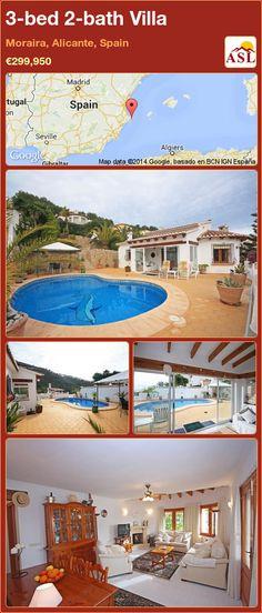3-bed 2-bath Villa in Moraira, Alicante, Spain ►€299,950 #PropertyForSaleInSpain