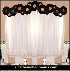 Decorating theme bedrooms – Maries Manor: creative windows – window decorations … – Best of Wallpapers for Andriod and ios Music Themed Rooms, Music Bedroom, Music Party, Disco Party, Bedroom Themes, Bedroom Ideas, Girl Room, Window Treatments, Creative