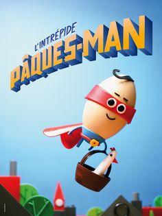 Banette, Pâques-Man, oeuf, super héros, superman