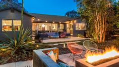 There are some hidden renovations to the house, but the most visible overhaul is to the house's landscaping. That firepit is begging for a classy garden party. The property is asking $1.7 million.