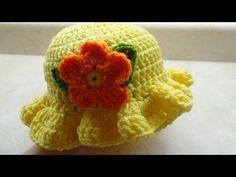 How To #Crochet Baby Crochet Toddler Springtime Hat #TUTORIAL DIY Crochet Free Crochet - YouTube