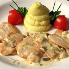 Chicken in garlick sauce. Recipes with photos.