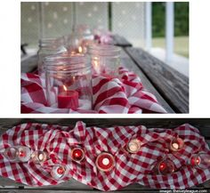 would intermixing gingham tableclothes with the burlap be too much gingham?