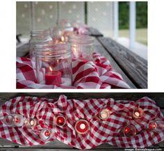 Picnic-themed Mason Jar Party Ideas