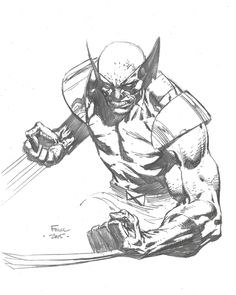 Wolverine - David Finch, in Juan Rojas Caballero's Barcelona 2015 Comic Art Gallery Room Comic Book Artists, Comic Artist, Comic Books Art, Cartoon Sketches, Cool Sketches, Superhero Sketches, Marvel Comic Universe, Marvel Art, Dc Comics Art