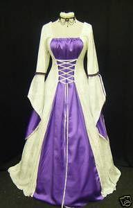 medieval times wedding dresses | Medieval Gothic Renaissance wedding dress handfasting | eBay