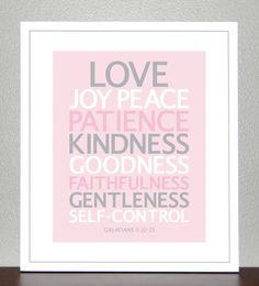 Nursery Decor  Bible Verse  Love Joy Peace by CreativeWildChild, $28.00