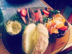 Balsamic Steak Salad, Baked Potato, Stuffed Portobello Mushroom, and Grilled Avocado