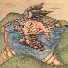Nozze alchemiche, disegno medievale, Italia