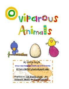 This 50 page unit is an incredible resource for your classroom. It includes:Literature suggestionsBubble Map-for pre and post assessment or just to ascertain    background knowledgeEggs-ellent Patterns pageOviparous research papers (tree map for plan and final copy page)Oviparous animal sortEgg money Cards (for memory or matching)Chick and Duckling activities-flow map, double bubble map, inference page, art projects, graphPoemBrace Maps-for rooster, grasshopper, sea turtle, fish and ...